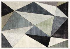 Vloerkleed Angles 230x160 - grijs/lichtgroen