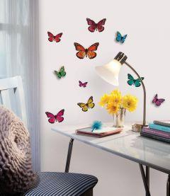 RoomMates muurstickers - 3D Vlinders