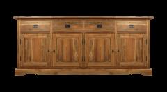 Dressoir 4-deurs - antiek - teak