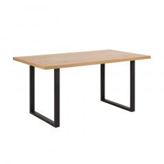 Eettafel Wallace 160x90 met rechte poten - eik/zwart