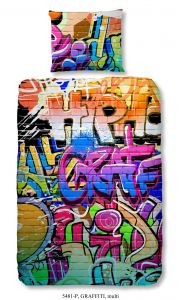 Dekbedovertrek Graffiti 140x220