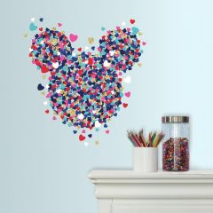 Muursticker Minnie Mouse Heart Confetti