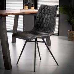 Set van 2 stoelen Vinnie - antraciet