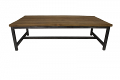 Salontafel Hunter - 120x60 cm - reclaimed teak / ijzer