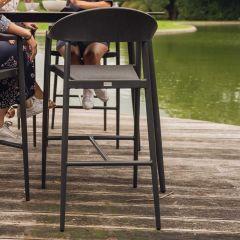 Barstoel voor buiten Mati - donkergrijs