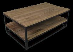 Salontafel met onderplank - oud hout / ijzer