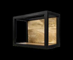 Wandbox Levels - 35x25 cm - mangohout / ijzer