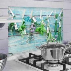 Muursticker Herbs achterwand keuken