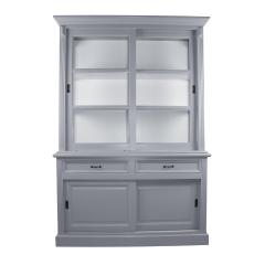 Buffetkast Provence 150cm 4 deuren & 2 lades - grijs/wit