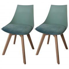 Set van 2 stoelen Cosmo - groen