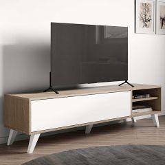 Tv-meubel Kim 165cm - eik/wit