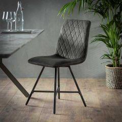 Set van 4 stoelen Bailey - antraciet