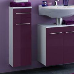 Badkamerkastje Small 25cm 1 lade & 1 deur - hoogglans paars