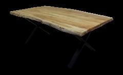 Eettafel SoHo - 200x100 cm - acacia / ijzer