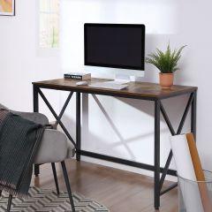 Bureautafel Gerrit 115cm industrieel - rustiek bruin/zwart