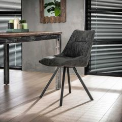 Set van 4 stoelen Veli - zwart