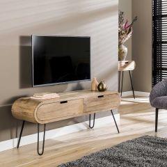 Tv-meubel Barros 135cm met 2 lades - mango/zand