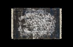Vloerkleed - katoen - 230x160 cm - teal / beige
