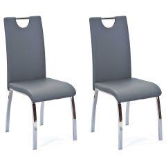 Set van 2 stoelen Texas - grijs