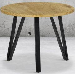 Salontafel Cazorla ø60 - zwart/bruin