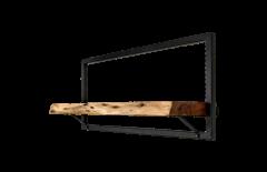 Wandplank Levels Live Edge - 70x32 cm - acacia / ijzer