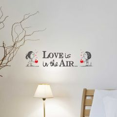 Muursticker Love is in the air