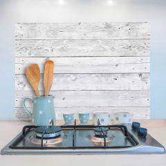 Muursticker Grey Wood achterwand keuken