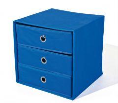 Opbergdoos Willy met 3 laden - blauw
