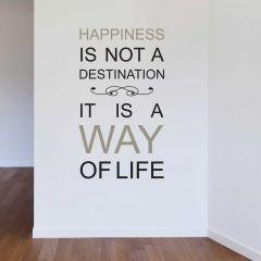 Muursticker Happiness