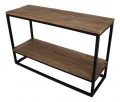 Sidetable met onderplank - oud hout / ijzer