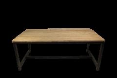 Eettafel Hunter - 220x100 cm - reclaimed teak / ijzer