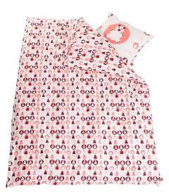 Dekbedovertrek Teddy Flexa baby 70x140 - roze