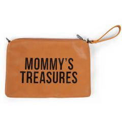 Mommy Clutch lederlook - bruin