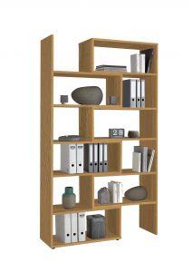 Open boekenkast Gabi - oude eik