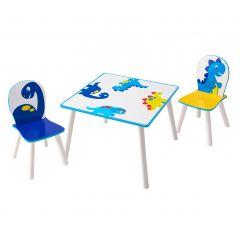 Kindertafel met stoeltjes Happy Dino