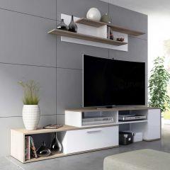 Tv-meubel Whale 170cm - wit/bruin