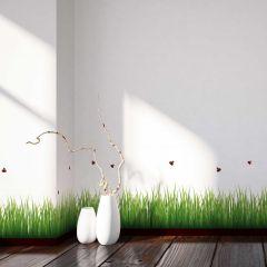 Muursticker Grass & Ladybirds - sierrand