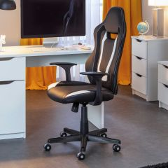 Bureaustoel Cool Life - zwart/wit