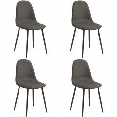Set van 4 stoelen Lowie