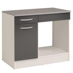 Onderkast Eko 100 cm voor oven met lade en deur - grijs