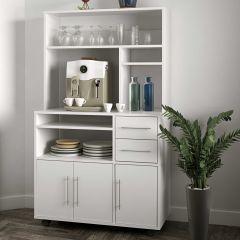 Keukenkast Cesar voor magnetron - wit