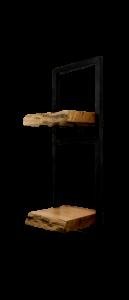 Wandplank Levels Live Edge - 25x70 cm - acacia / ijzer