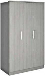 Kledingkast Ramos 120cm met 3 deuren - grijze es