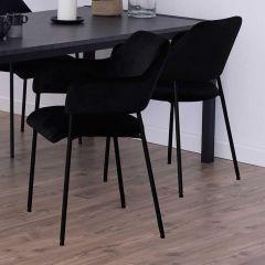 Set van 2 stoelen Lilou - zwart