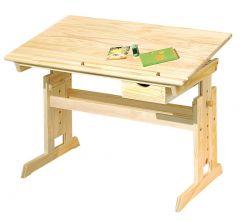 Bureau Lena houtkleur - kantelbaar werkblad (tekentafel)