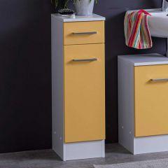 Badkamerkastje Ricca 25cm 1 deur & 1 lade - wit/geel