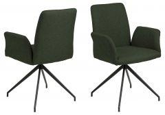Draaistoel Robert - groen/zwart