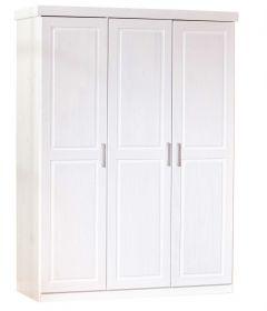 Kledingkast Leon 140cm met 3 deuren - wit
