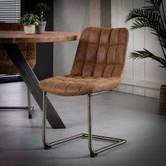 Set van 2 stoelen Muca - bruin