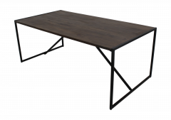 Eettafel - 220x100 cm - antique finish